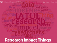 Word Cloud Research Impact Things