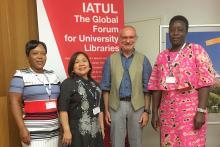 IATUL Conference 2017 Bolzano - Travel Grant recipients - Moitheki Patience Ntuli, Sharon Maria Esposo-Betan, Reiner Kallenborn (IATUL President), Sylvia Adhiambo Ogola